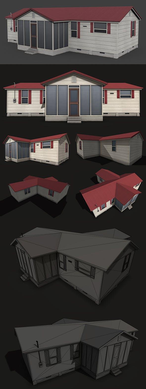 Suburban Family House - 3DOcean Item for Sale
