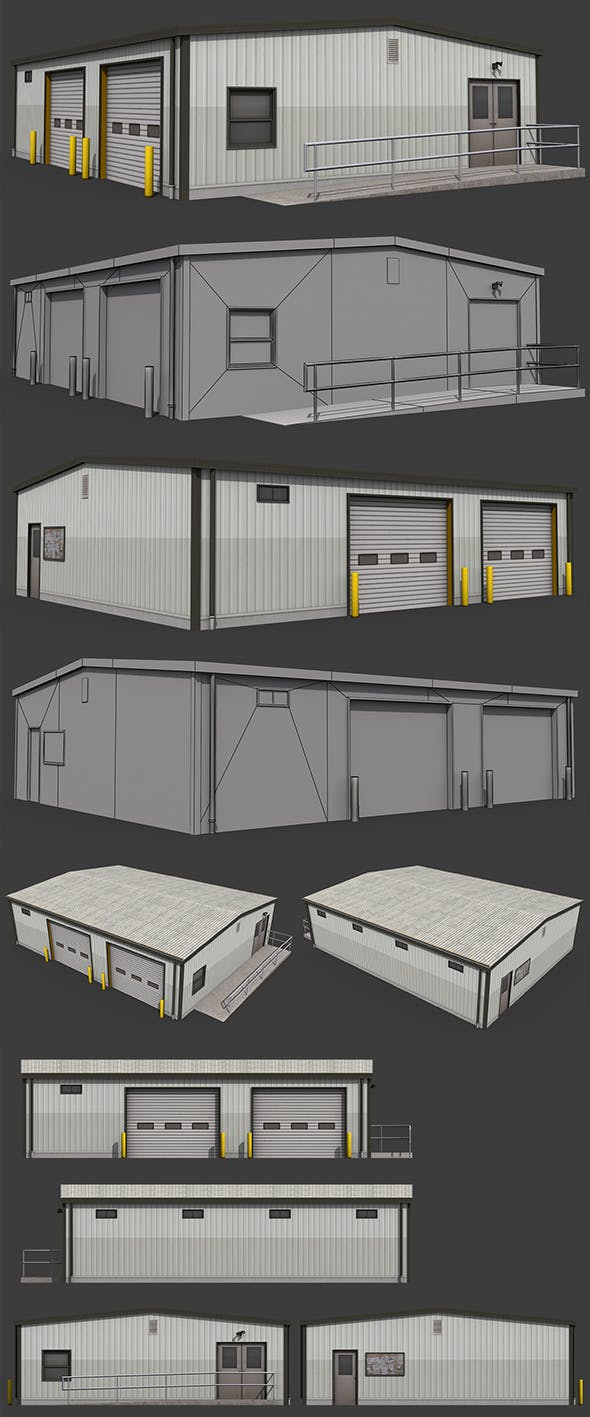 Small Warehouse - 3DOcean Item for Sale