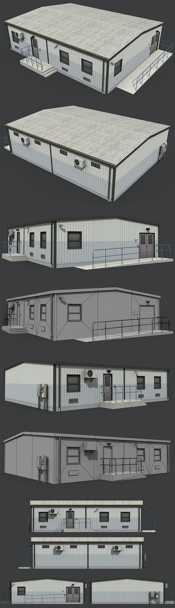 Temporary Office - 3DOcean Item for Sale