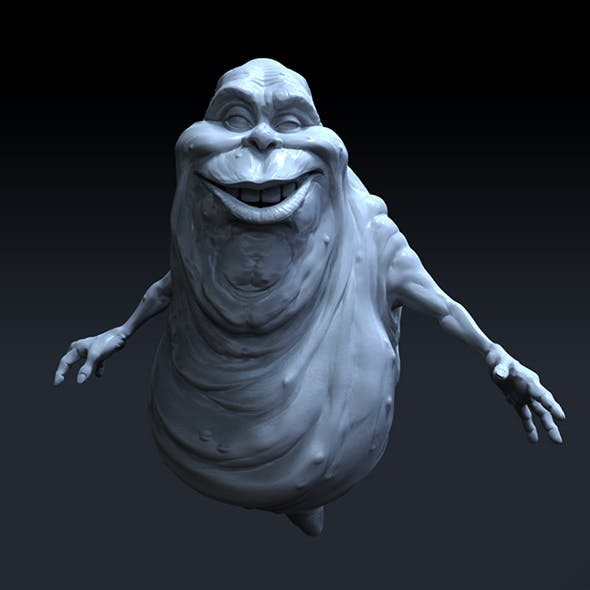 Ghostbusters Slimer, high polygon 3D model