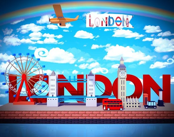 low poly london - 3DOcean Item for Sale