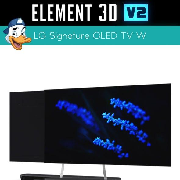LG Signature OLED TV W for Element 3D