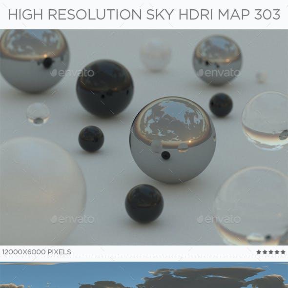 High Resolution Sky HDRi Map 303