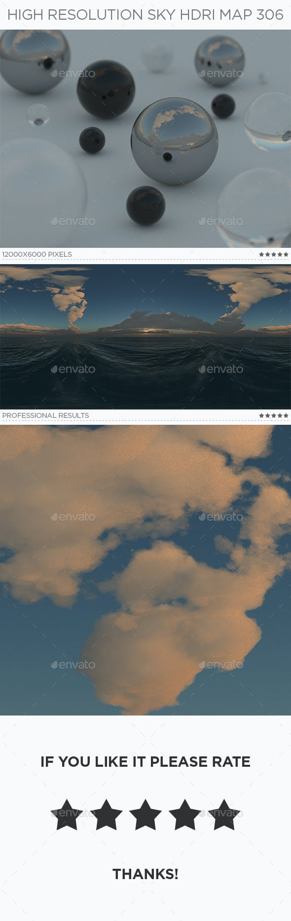 High Resolution Sky HDRi Map 306 - 3DOcean Item for Sale
