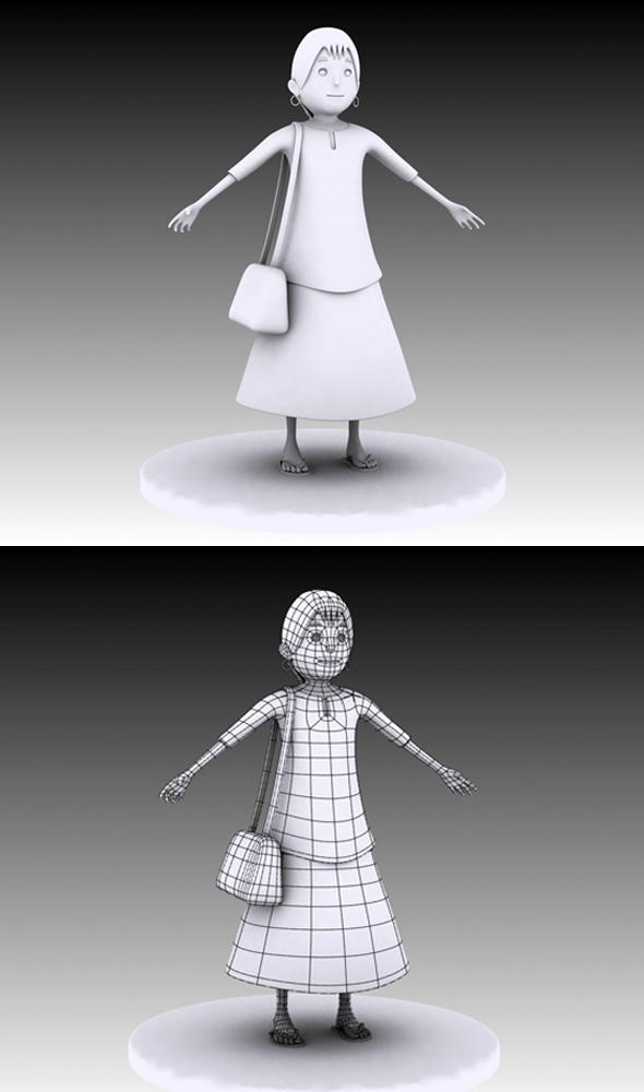 Meena Cartoon Model - 3DOcean Item for Sale