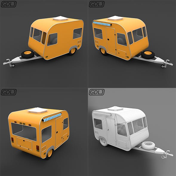 Trailer Travel small - 3DOcean Item for Sale