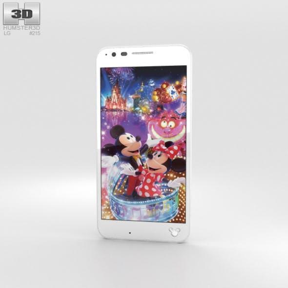 LG Disney Mobile on Docomo DM-02H White