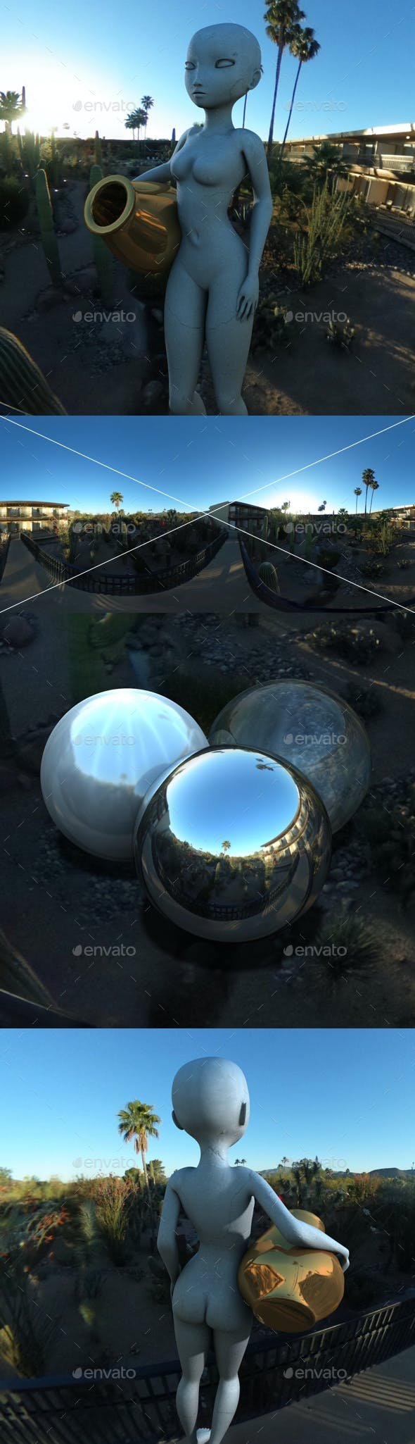 Desert Hotel Bridge HDRI - 3DOcean Item for Sale