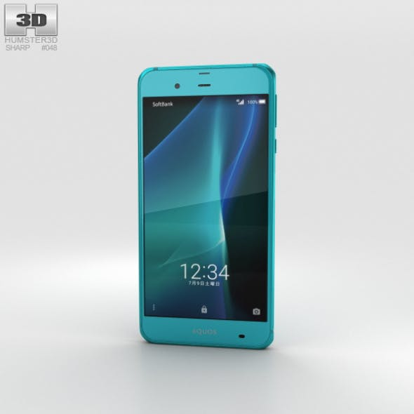 Sharp Aquos Xx3 Green - 3DOcean Item for Sale