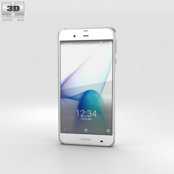 Sharp Aquos Xx3 White - 3DOcean Item for Sale