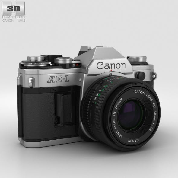 Canon AE-1 - 3DOcean Item for Sale