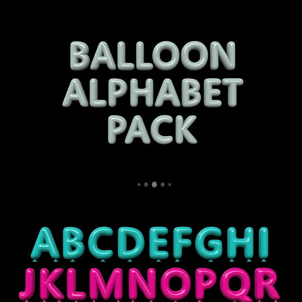 Balloon Alphabet Pack
