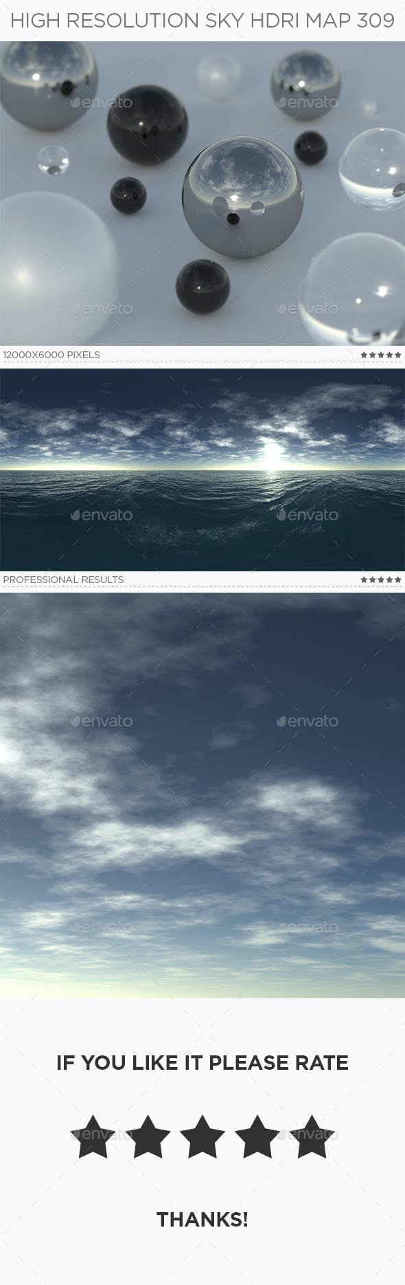 High Resolution Sky HDRi Map 309 - 3DOcean Item for Sale