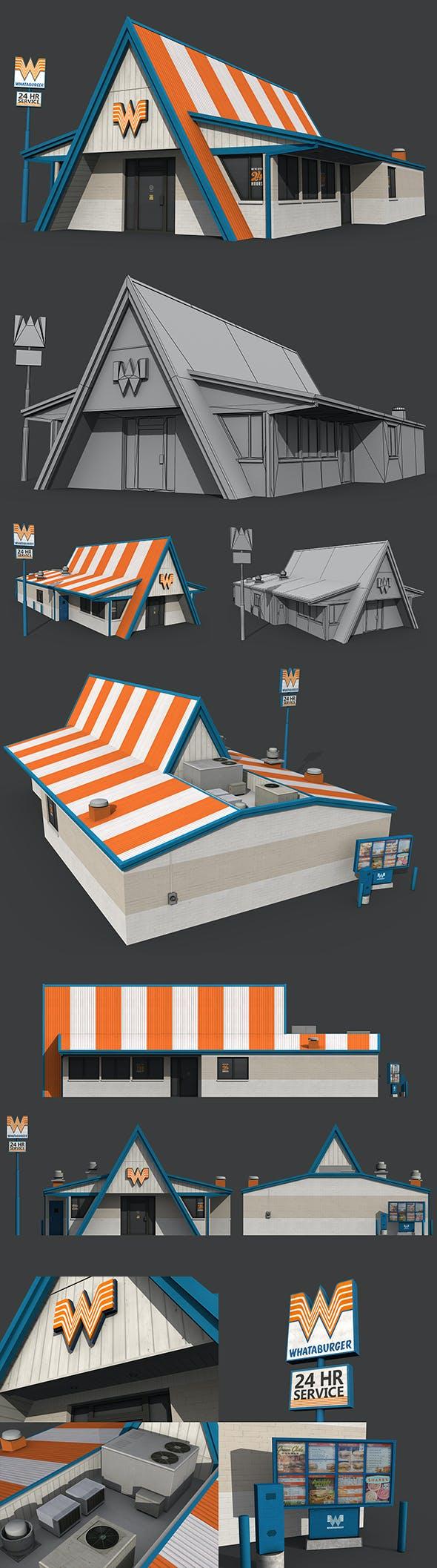 Whataburger Restaurant - 3DOcean Item for Sale