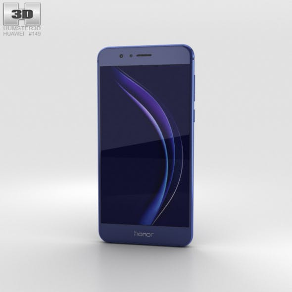 Huawei Honor 8 Sapphire Blue - 3DOcean Item for Sale