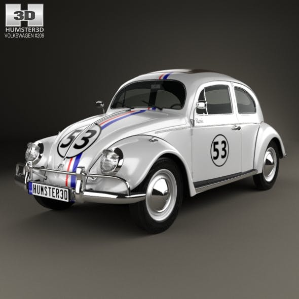 Volkswagen Beetle Herbie the Love Bug 1963 - 3DOcean Item for Sale