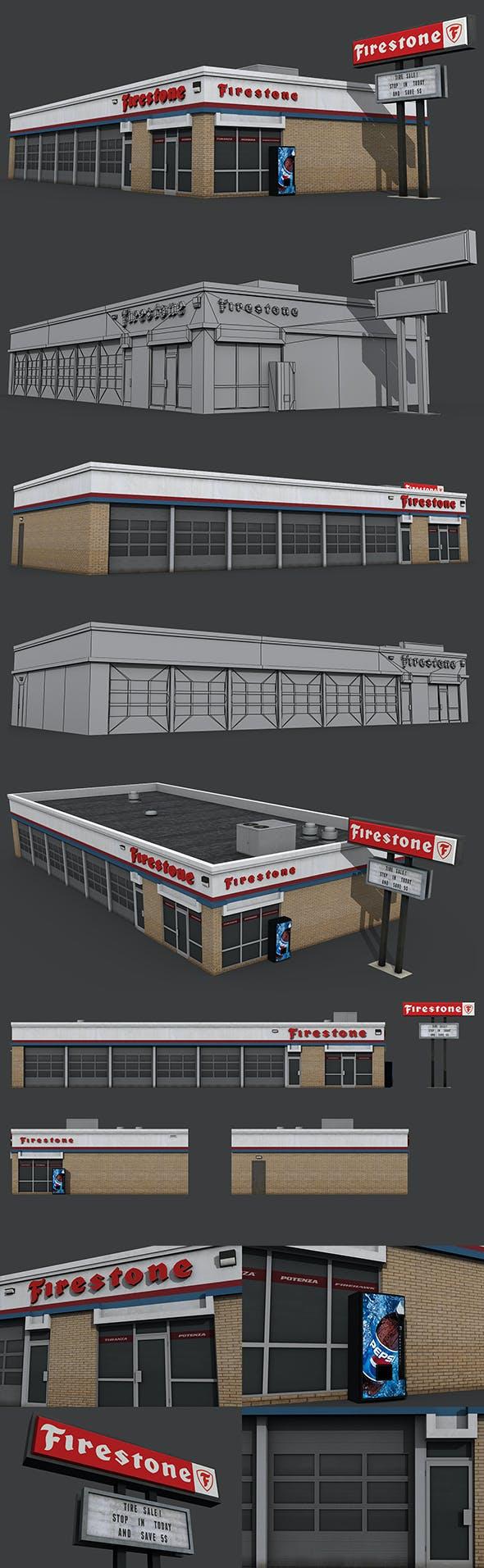 Firestone Complete Auto Service Building - 3DOcean Item for Sale