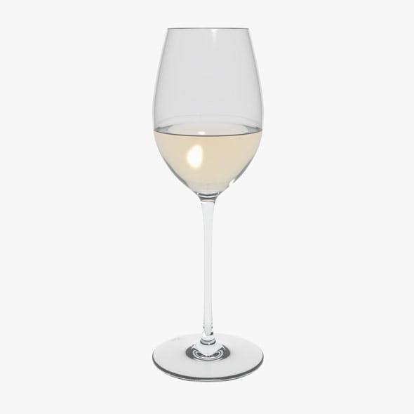 Glass Riedel Superleggero Loire With Wine - 3DOcean Item for Sale