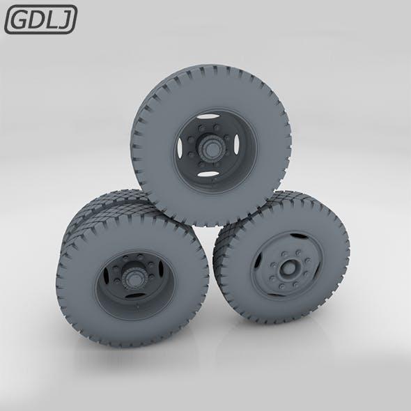 Truck wheels - Full - 3DOcean Item for Sale