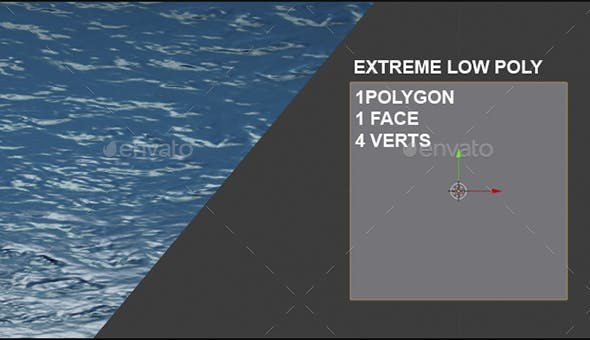 Water Looped animation texture - super low poly - 3DOcean Item for Sale