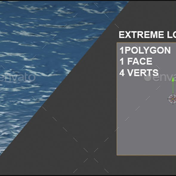 Water Looped animation texture - super low poly
