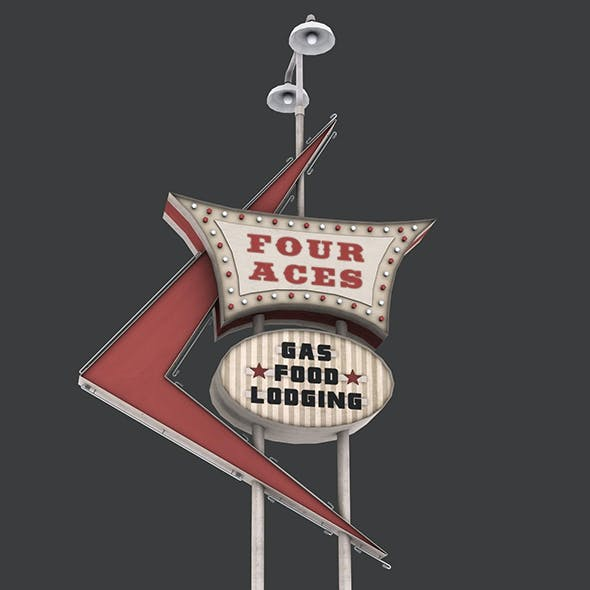 Four Aces Movie Set Sign