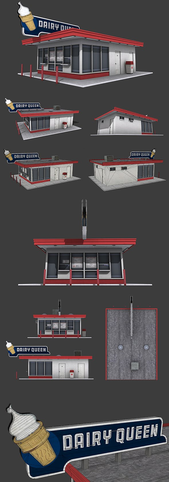 Dairy Queen Restaurant - 3DOcean Item for Sale