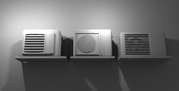 Air-Conditioner-Condensing - 3DOcean Item for Sale