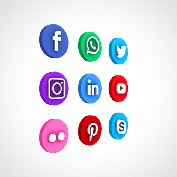 Social Media Icon Set 01