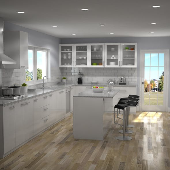 Kitchen Interior 02 - 3DOcean Item for Sale