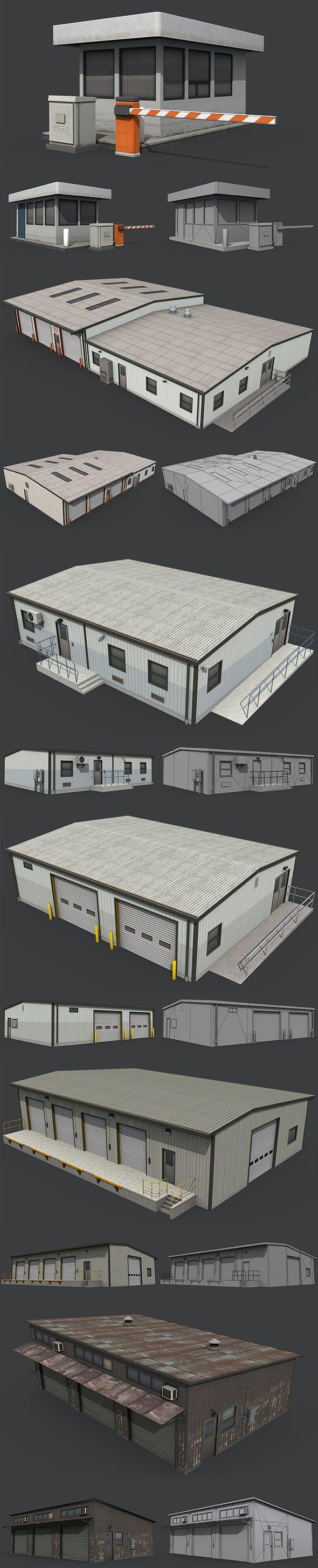 Industrial Buildings Pack - 3DOcean Item for Sale
