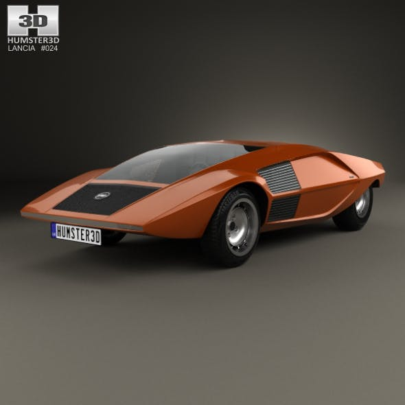 Lancia Stratos Zero 1970 - 3DOcean Item for Sale