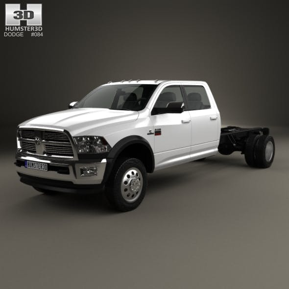 Dodge Ram Crew Cab Chassis L2 Laramie 2012 - 3DOcean Item for Sale