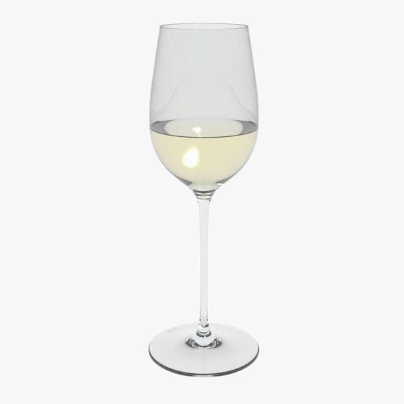 Glass Riedel Superleggero Viognier With Wine - 3DOcean Item for Sale