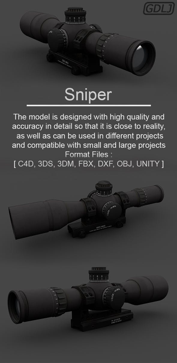 Sniper - 3DOcean Item for Sale
