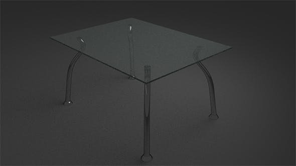 Rectangular and oval glass tables - 3DOcean Item for Sale