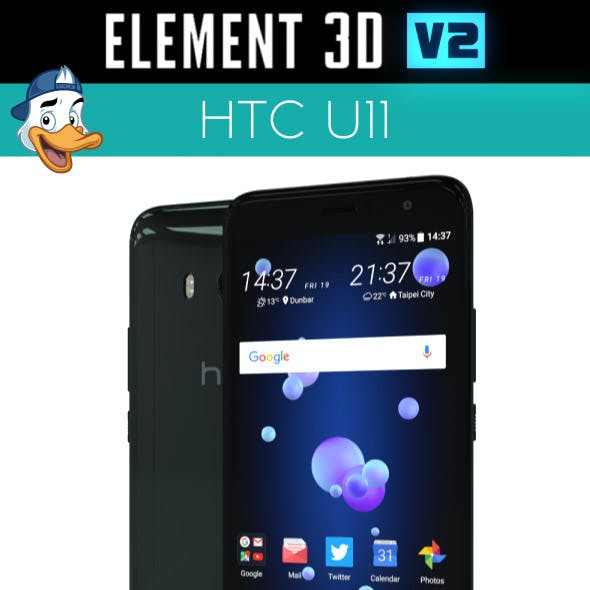 HTC U11 for Element 3D