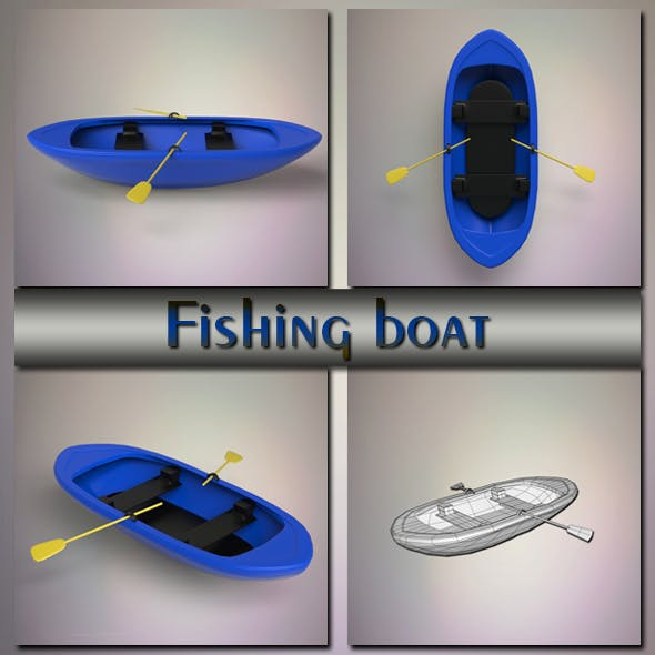 Fishing boat - 3DOcean Item for Sale