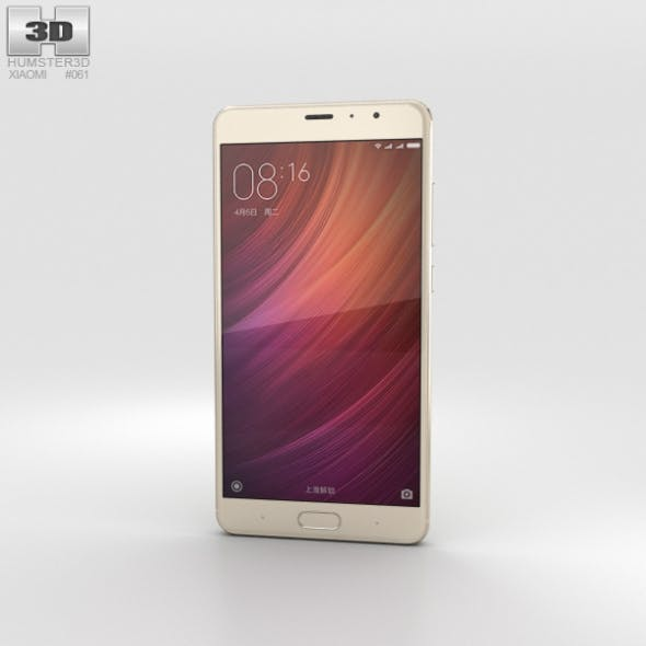 Xiaomi Redmi Pro Gold - 3DOcean Item for Sale