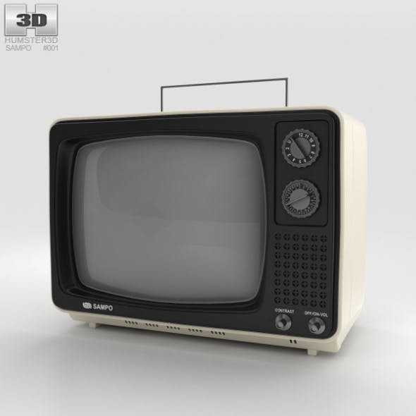 Sampo TV B-1201BW - 3DOcean Item for Sale