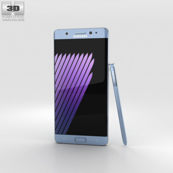 Samsung Galaxy Note 7 Blue Coral - 3DOcean Item for Sale