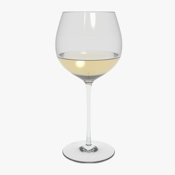Glass Riedel Superleggero Oaked Chardonnay With Wine - 3DOcean Item for Sale