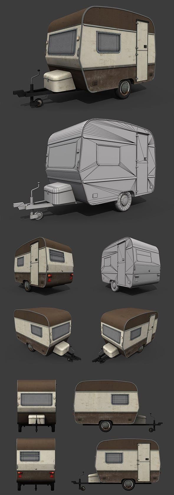 Caravan Trailer - 3DOcean Item for Sale