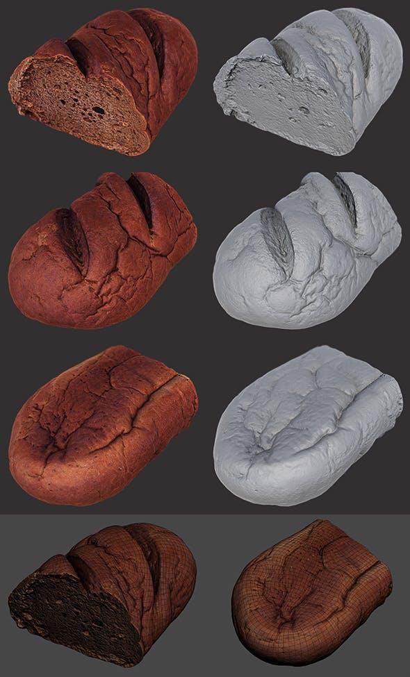 Brown Loaf of Bread Cut - 3DOcean Item for Sale