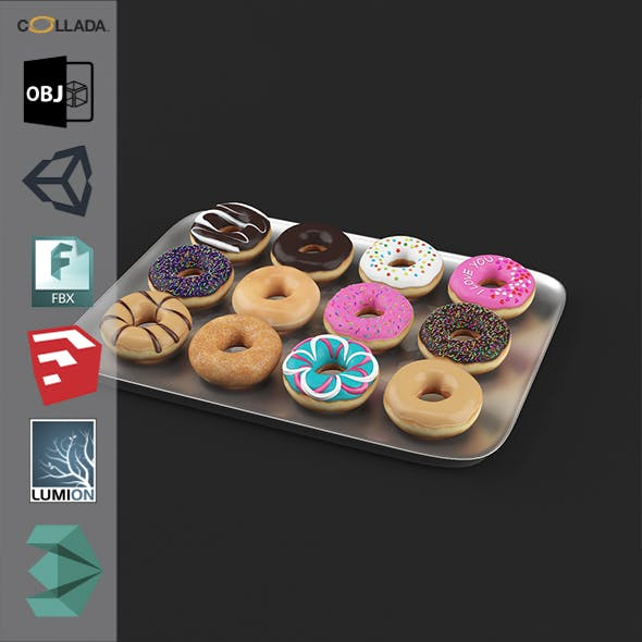 Donuts Pack1 - 3DOcean Item for Sale