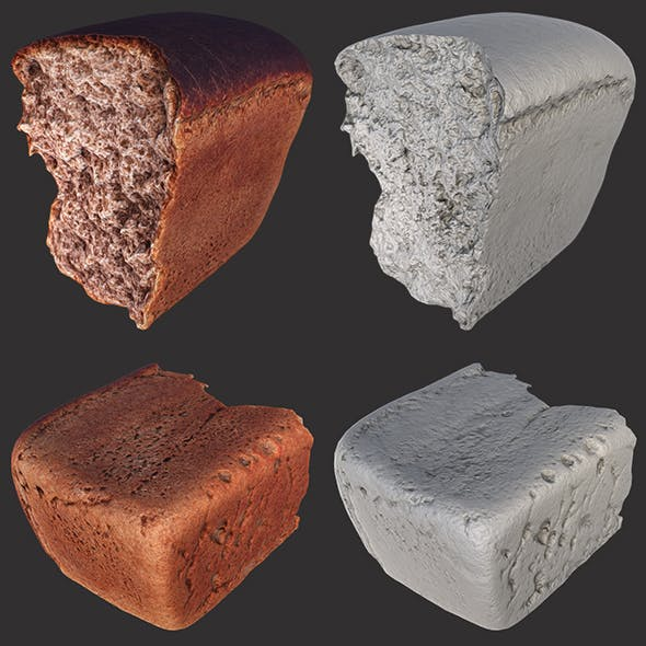 Soviet Brick Bread Cut