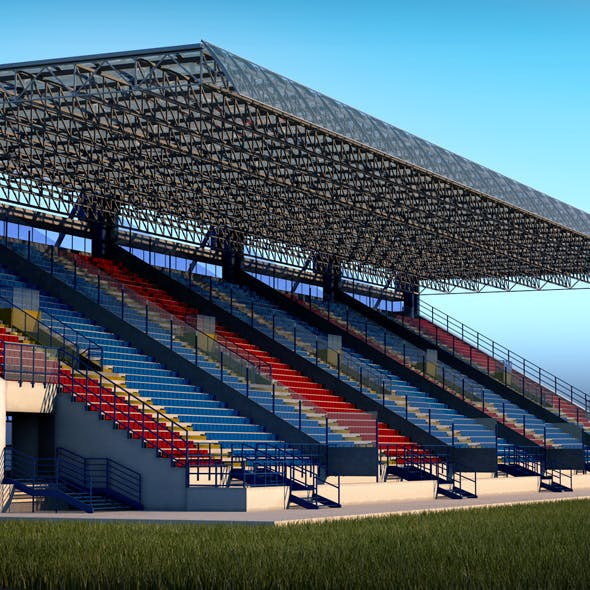 Stadium Sport Soccer Tribune High detail