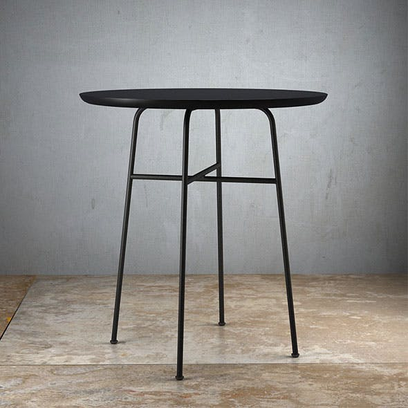 Afteroom Cafe Table - Height 73cm - 3DOcean Item for Sale