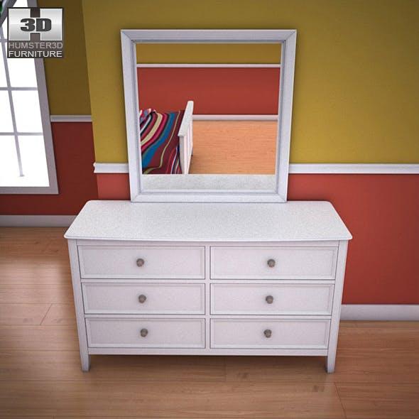 Ashley Caspian Panel Dresser - 3DOcean Item for Sale