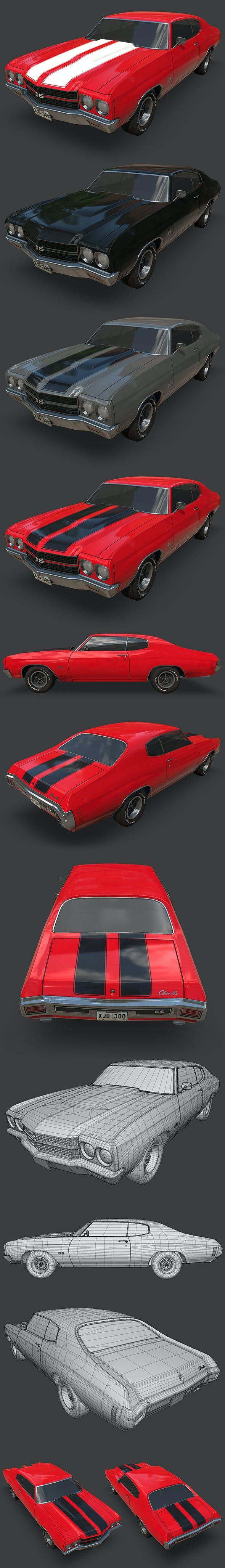 Chevrolet Chevelle 1970 - 3DOcean Item for Sale